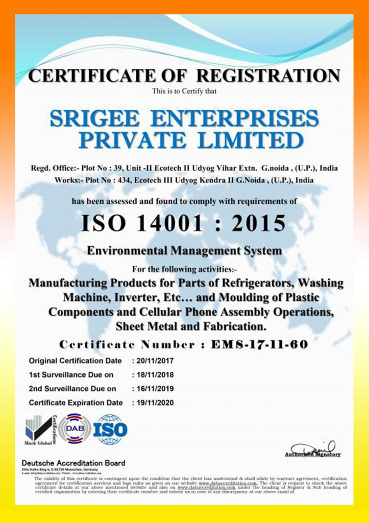 Top Molding Companies in India - Srigee Enterprises Pvt  Ltd